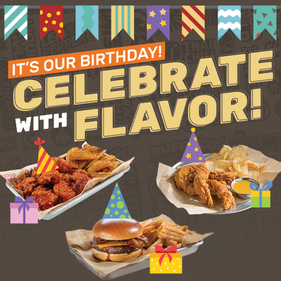 It's our Birthday! Celebrate with Flavor!