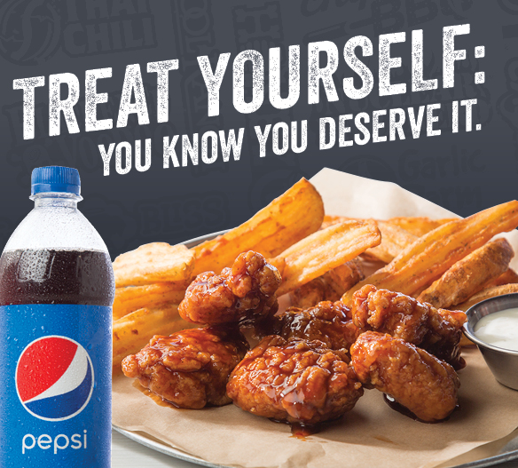 Treat Yourself to the 10 Boneless Wings Meal for $10!