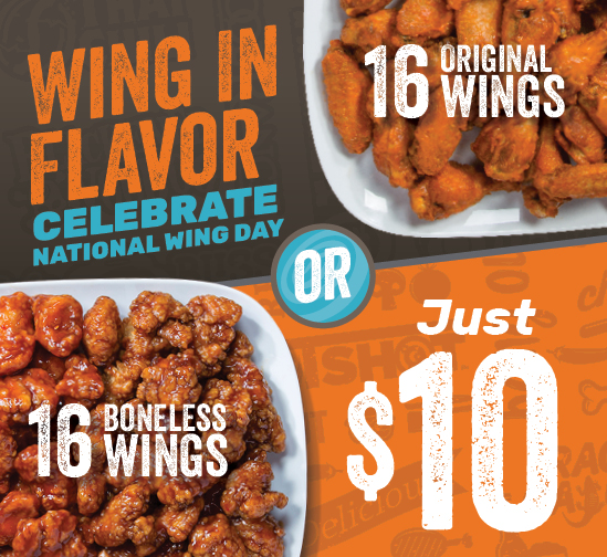 Celebrate National Wing Day with Wing Zone!