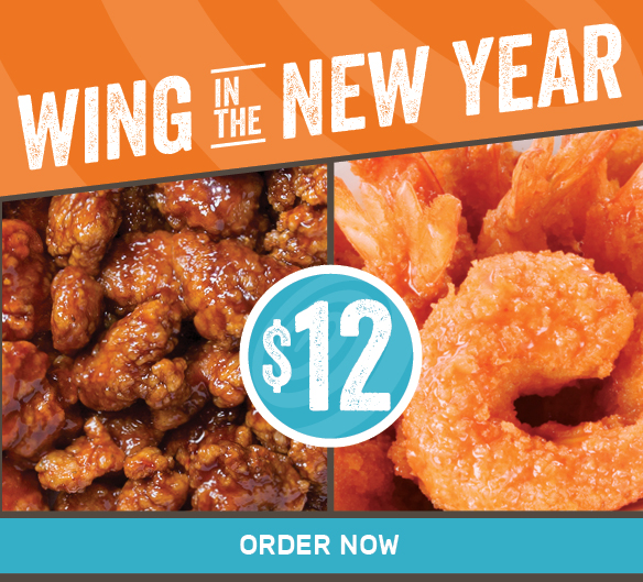 Wing in the New Year with 10 Boneless Wings & 10 Shrimp for $12