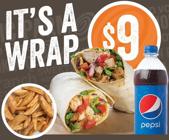 It's a Wrap Meal for $9!