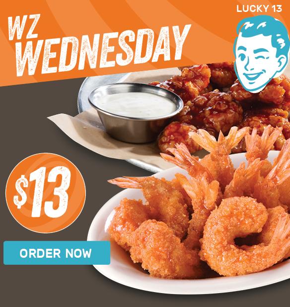 WZ Wednesday — 10 Boneless and 10 Shrimp for $13!