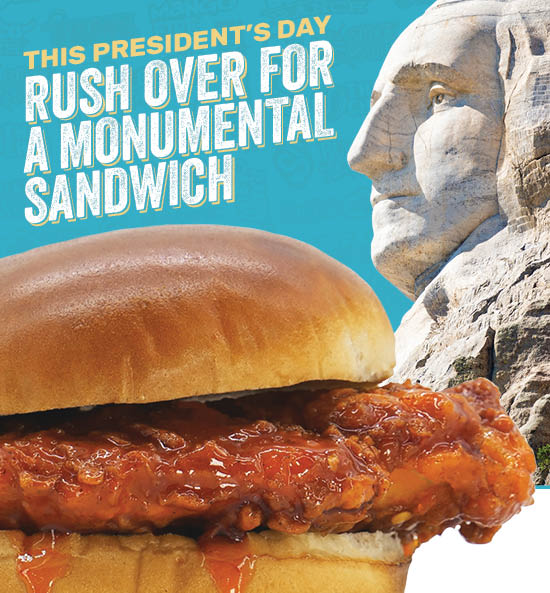 This President's Day: Rush over for a MONUMENTAL sandwich