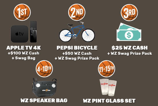 Prizes for 1st - 15th Place!