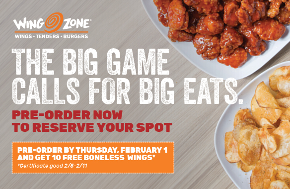 Pre-Order now for your Big Game Eats