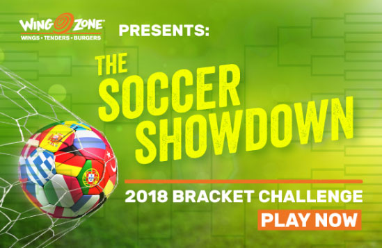 Play and win in the Wing Zone Soccer Showdown Bracket Challenge