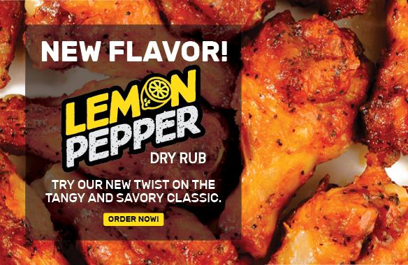 Try or new Dry Rub Flavor: Lemon Pepper!